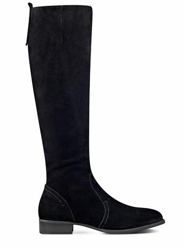 Nine West %100 Süet Çizme Siyah